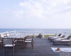 Ralph Pucci's deck overlooking the coast of the Hamptons. Photo by William Waldron.