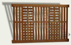wooden fence that isn't boring.  DIY design idea....