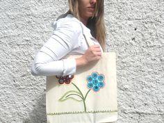Arte Brasil   Ecobag com Flores em Shisha - Valquíria Campanelli