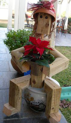 Scarecrow Garden/Yard Art. $60.00, via Etsy.