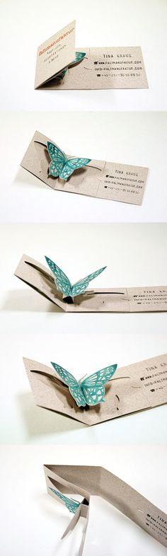 unique folding business card for Faltmanufaktur