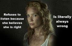 Love walking dead, hate Andrea!