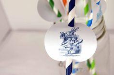 Straw Decor Alice in Wonderland Rabbit