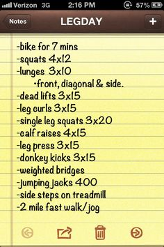 Leg day workout. - Gunna have to give this a go this week!