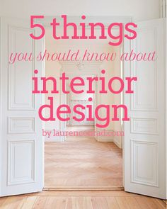5 things you should know about interior design for your
