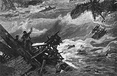 Johnstown, Pa., 1889  May 31, 1889  Significance: More than 2,200 dead  South Fork Dam failed, unleashing 20 million tons of water on Johnstown, located just 14 miles from the dam. Less than an hour after the dam burst, a wall of water some 30 feet high smashed into the town at speeds of 20 to 40 miles per hour.