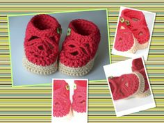 PG. Crochet pattern sandals with separate front