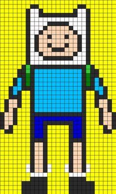 Finn Full Body Perler Perler Bead Pattern | Bead Sprites | Characters Fuse Bead Patterns