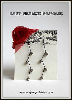 Crafting Rebellion: Easy Branch Dangles