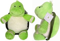 "Green Turtle Cubbies measures 16"" from head to toe and has a removable stuffing pouch to enable personalization. The Cubby has two removable pods - from the head and body."