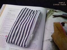 DIY: ten minute zipper bag