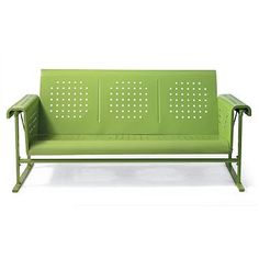 Retro Squares Glider Sofa—is on my back porch, finally!