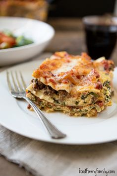 Spinach Ricotta Lasagna #recipe via FoodforMyFamily.com