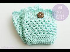 ▶ Crochet Boot Cuffs - YouTube