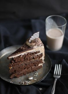 Seven Sins Chocolate Cake. Click on the photo to view the ingredients. Visit purecipes.com to discover more popular recipes. #ChocolateCake, #SevenSins #Cakes, #Dessert