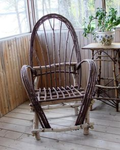 Rustic Birch Bentwood Chair by SNLCreations on Etsy