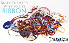 More than 100 ways to use ribbon... bows, flowers, braids, and more!