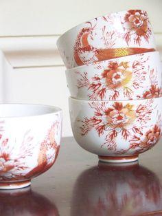 vintage set japanese tea cups