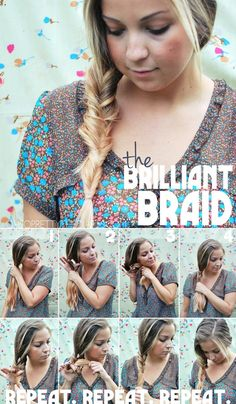 the brilliant braid looks like a really intricate fishtail braid but, it isn't even a braid at all!