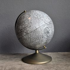 1969 Moon Globe by Agent Gallery Chicago, issued to commemorate the lunar landing