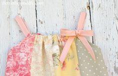 pillowcase dress w/ elastic neckline