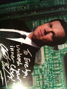 Adam Baldwin's autograph.