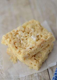 Banana Cream Pie Rice Crispy Treats