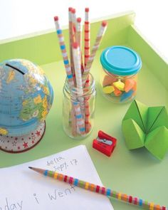 Decorated Pencils and Roll-Up Pencil Kit