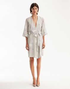 Silk robe by Dress Up.