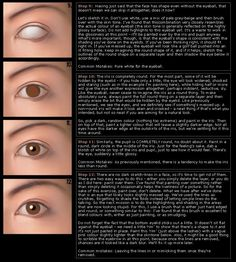 How to paint realistic eyes (The earlier info is interesting for those of us who still prefer a pencil.)  ~smile~