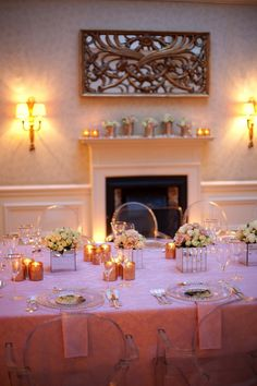 Pretty pink wedding