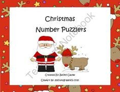 FREE Common Core Counting/Skip Counting Leveled Christmas Number Puzzler-6 Total from The Barefoot Teacher on TeachersNotebook.com (8 pages)  - Christmas themed counting and skip counting puzzles.