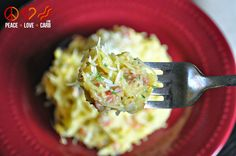 Spaghetti Squash Carbonara - Low Carb - Peace, Love and Low Carb
