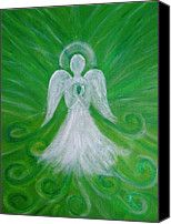 Angel Painting Canvas Prints - The Healing Angel Canvas Print by Silvia Flores
