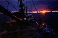 Commercial Fishing at Sunset in Alaska...