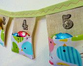 a bunting that is an organizer! Need some fabric ink pads
