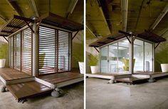 window, prefabr modular, deck
