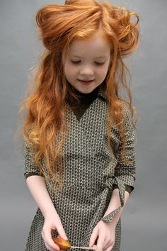 wrap dresses, little girls, hair colors, little red, ginger, red hair, redhead, red head, kid
