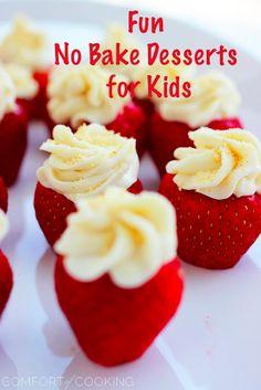 Fun Kid Friendly No Bake Desserts