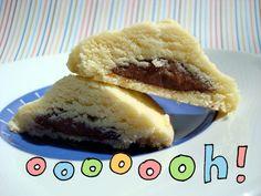 nutellafil shortbread, food, fill shortbread, yummi, recip, cookies, nutella fill, shortbread cooki, dessert