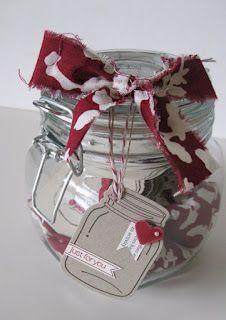 Cute jar of tags