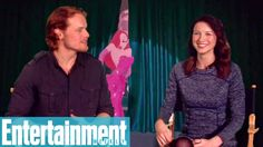 Outlander's Sam Heughan and Caitriona Balfe reveal their first celeb crushes and more