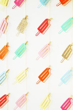 popsicle photo booth backdrop {cute!}