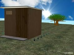 How to Make an Outhouse Steps & Pictures....& how to maintain.....