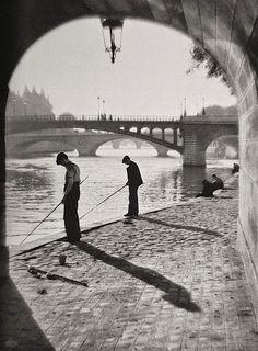 H. Glöckl - Angler at the Seine, Paris, 1937.