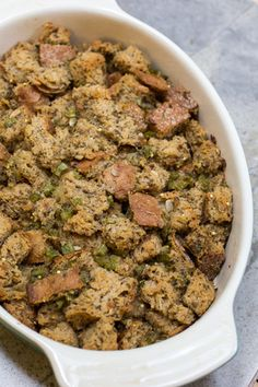 This recipe for Homemade Holiday Dressing is full of herbs and can be made with the bread of your choice.