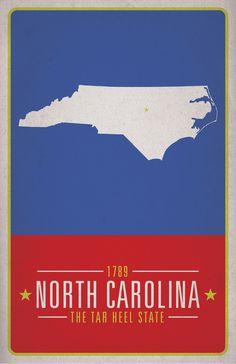 North Carolina, the Tar Heel State