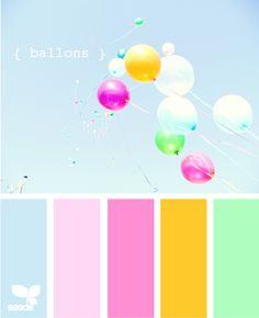 wedding palette, color palettes, design seeds, color schemes, spring colors, pastel colors, balloon, colour palettes, bright pastel