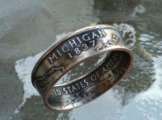 Michigan quarter ring.