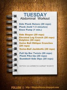 TUESDAY routine